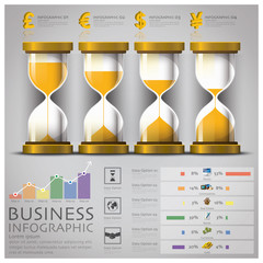 Sandglass Money And Financial Business Infographic