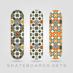 Skateboard set. Girly tracery