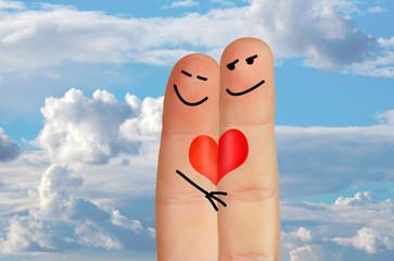 Lovers fingers