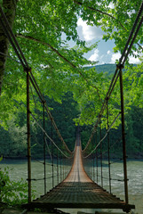 Suspension bridge © steamroller