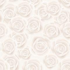 white roses seamless background
