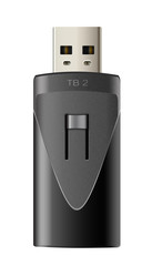 USB socket terabyte,TB2 isolated white background