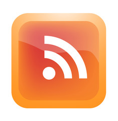 RSS feed icon on button