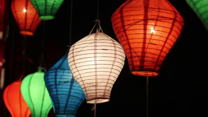 Asian lanterns in downtown