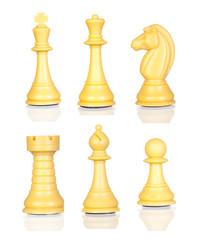 Six chess figures