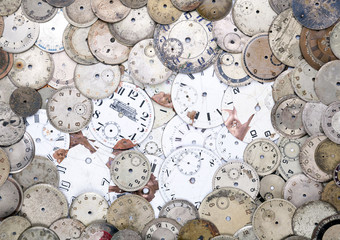 Antique watch faces