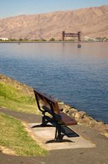 Clearwater River Park Bench Draw Bridge Lewiston Idaho