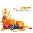 Happy Thanksgiving composition on white. Vector