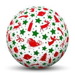 Weihnachtskugel, Symbole, weihnachtlich, Silhouette, Textur, 3D