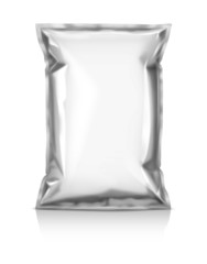 blank snack pouch isolated on white background