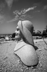 Italy, Sardinia, St. Stefano Island, Galeazzo Ciano statue