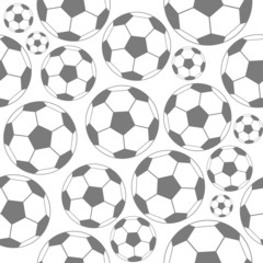 Black and white soccer seamless pattern