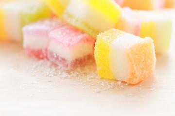 Jelly squares multicolored