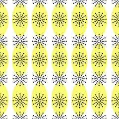 Vector seamless repeating pattern of simple shapes