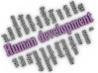 3d imagen Human development concept word cloud background