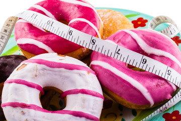 Diet with doughnuts