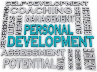3d imagen Personal development  issues and concepts word cloud b