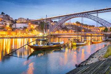 Porto, Portugal Town Skyline on the Douro River