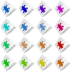 Cube Puzzle 004 - White