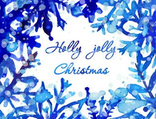 Watercolor snowflake card