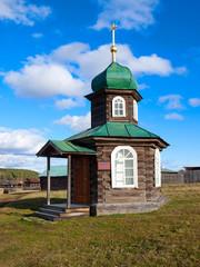 Wooden chapel Spassky. Sinyachikha village