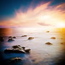 Mer beau lever de soleil