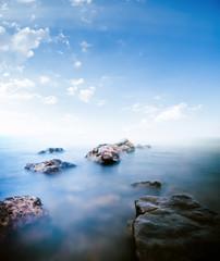 Stones calm sea