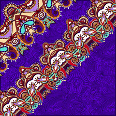 ornamental violet colour background with flower ribbon