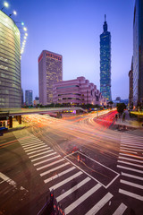 Taipei, Taiwan Citsyscape and Intersection