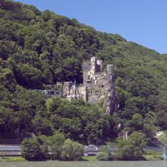 Burg Rheinstein, Landschaft, Rhein;