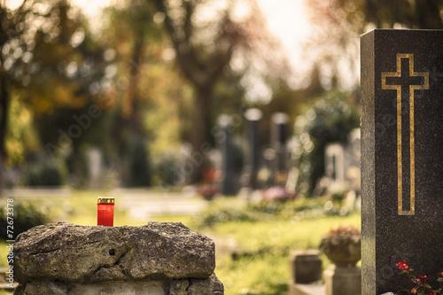 Keuken foto achterwand Begraafplaats Grab