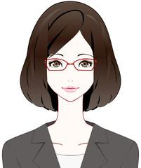 スーツの女性 眼鏡