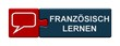 Puzzle Button rot blau: Französisch lernen
