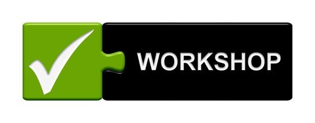 Puzzle Button grau grün: Workshop