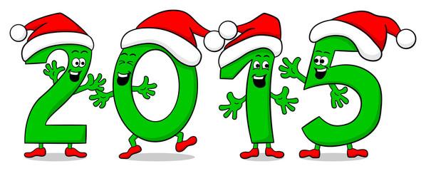 2015 Zahlen wünschen ein gutes Neues Jahr