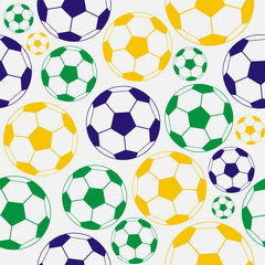 Color  soccer seamless pattern