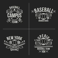 Baseball team emblems