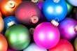 canvas print picture - Weihnachtskugeln