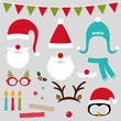 Christmas photo booth and scrapbooking set