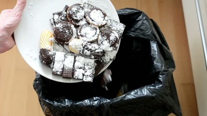 cookies and sweets - thrown into waste