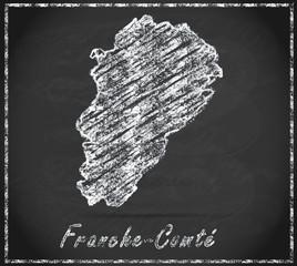Karte von Franche-Comte