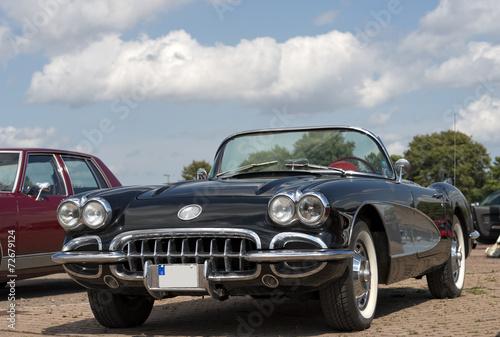 Poster Vintage cars amerikanisches Automobil Corvette