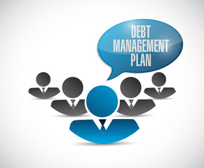 debt management plan team sign