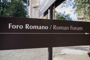 Cartello Foro Romano