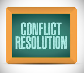 conflict resolution sign message illustration