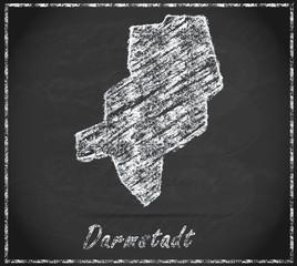 Karte von Darmstadt