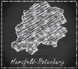 Karte von Hersfeld-Rotenburg