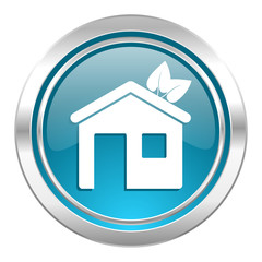 house icon, ecological home symbol