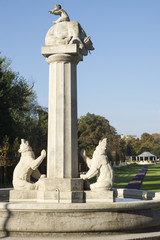 Bärenbrunnen am Park am Ostring in Hamm, NRW, Deutschland