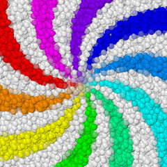 Rainbow swirl image balls generated hires texture